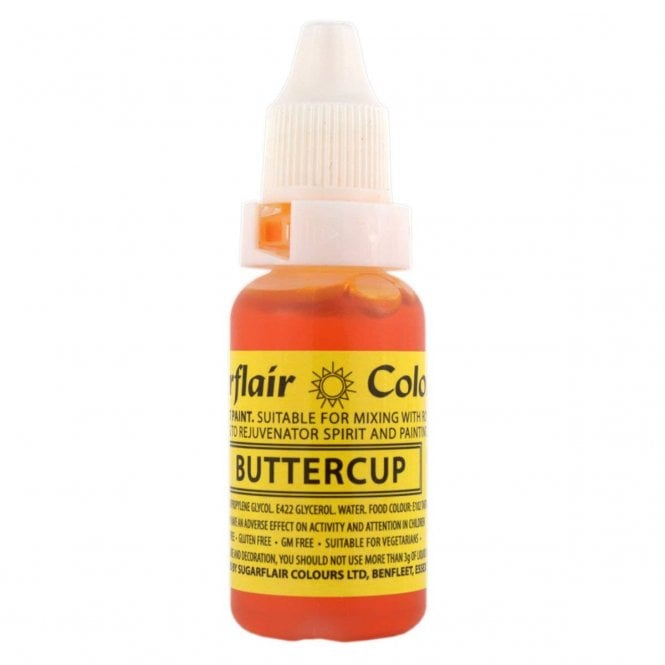 Sugarflair Buttercup - Sugartint Concentrated Droplet Colour 14ml