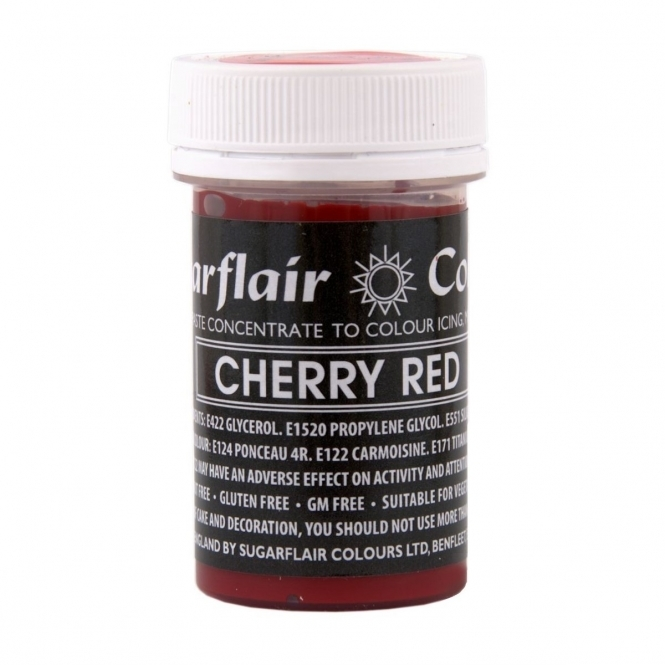 Sugarflair Cherry Red - Pastel Paste Concentrate Colouring 25g