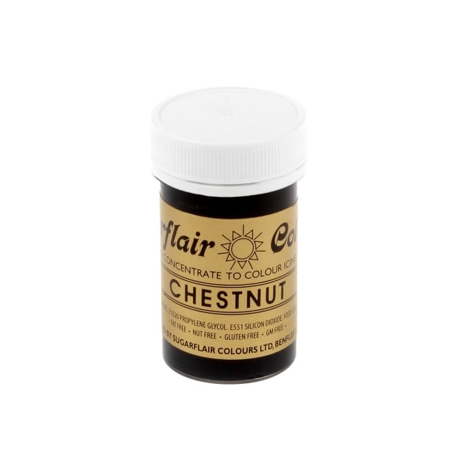 Sugarflair Chestnut - Spectral Paste Concentrate Colouring 25g