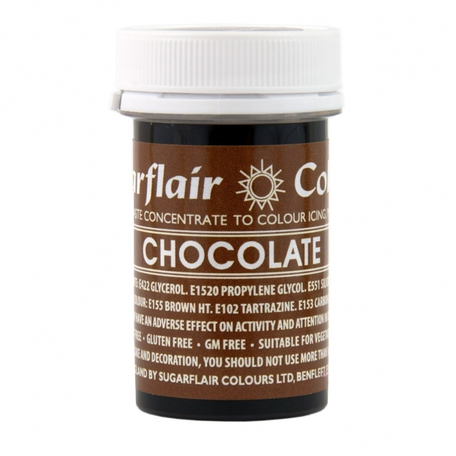 Sugarflair Chocolate - Spectral Paste Concentrate Colouring 25g