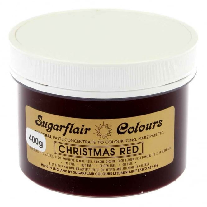 Sugarflair Christmas Red - Spectral Paste Concentrate Colouring 400g