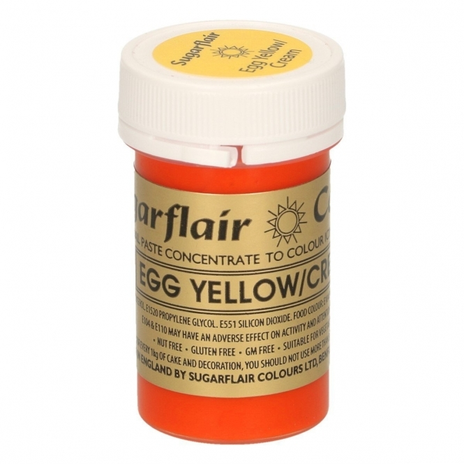 Sugarflair Egg Yellow Cream - Spectral Paste Concentrate Colouring 400g
