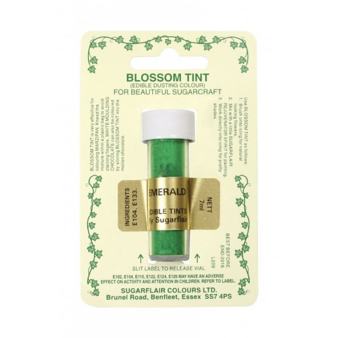 Sugarflair Emerald - Blossom Tint Dusting Colour