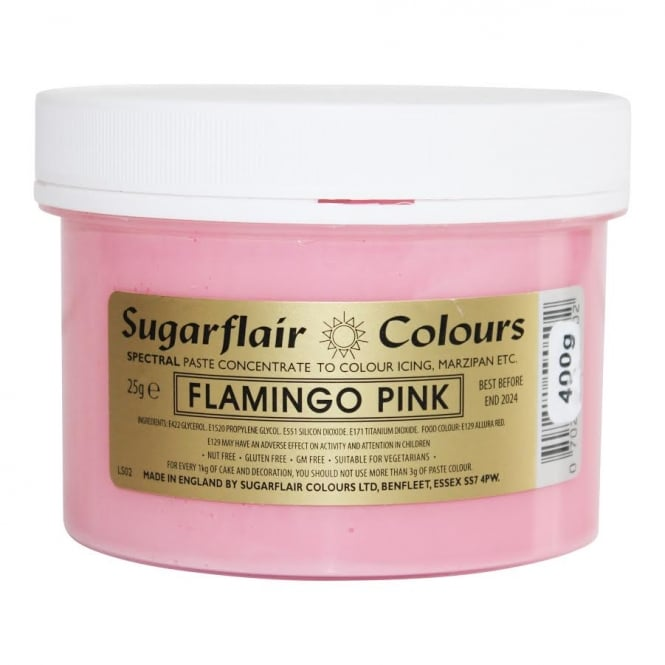 Sugarflair Flamingo Pink - Spectral Paste Concentrate Colouring 400g