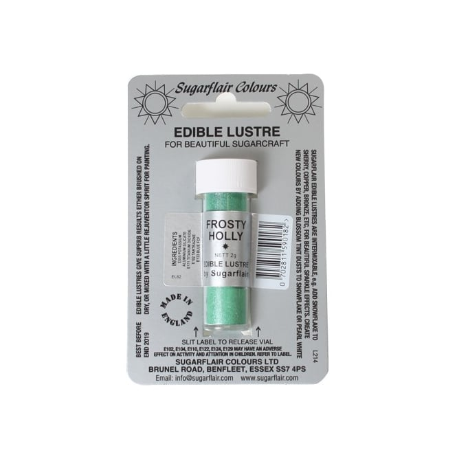 Sugarflair Frosty Holly - Edible Lustre Dusting Colour 2g