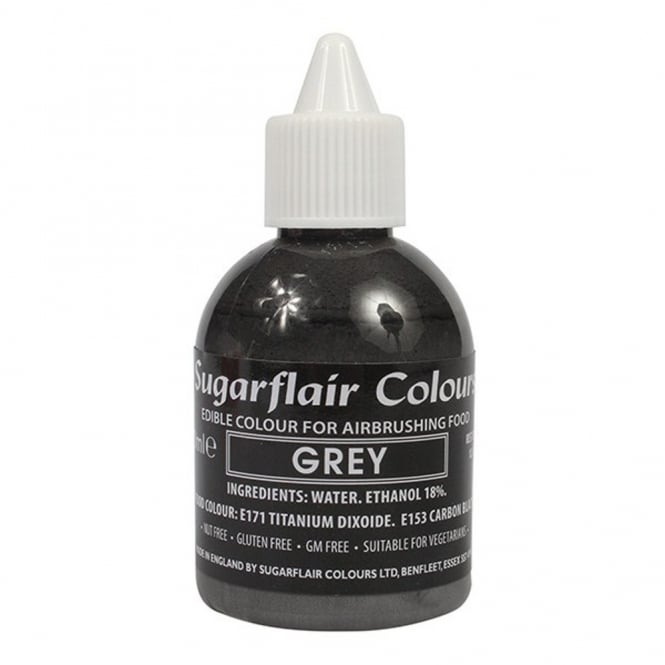 Sugarflair Grey - Airbrush Colour 60ml
