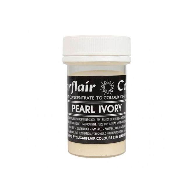 Sugarflair Pearl Ivory - Pastel Paste Concentrate Colouring 25g