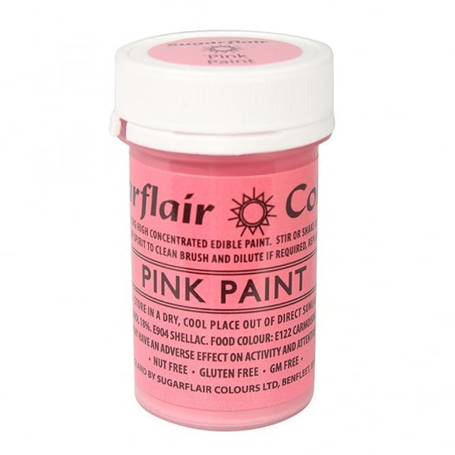 Sugarflair Pink - Edible Matt Paint 20g