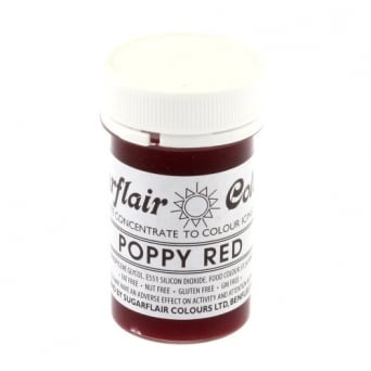 Poppy Red - Tartranil Paste Concentrate Colouring 25g
