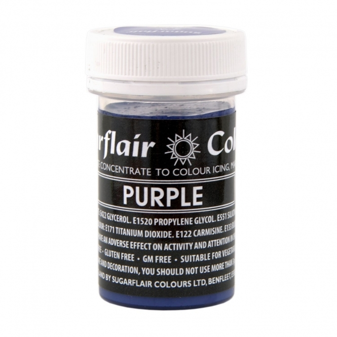 Sugarflair Purple - Pastel Paste Concentrate Colouring 25g