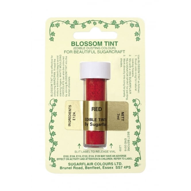 Sugarflair Red - Blossom Tint Dusting Colour