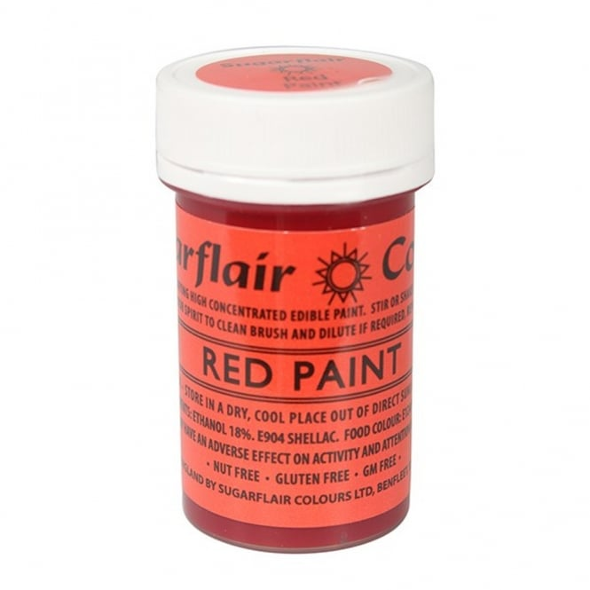 Sugarflair Red - Edible Matt Paint 20g