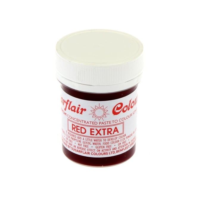 Sugarflair Red Extra - Max Concentrated Paste Colouring 42g