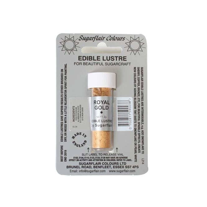 Sugarflair Royal Gold - Edible Lustre Dusting Colour 2g