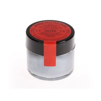 Silver - Edible Glitter Paint 20g