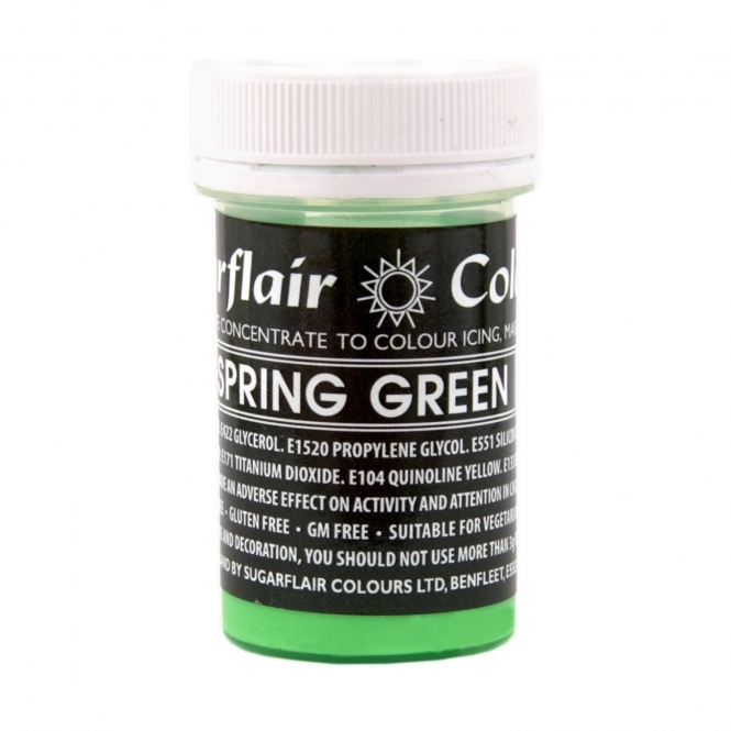 Sugarflair Spring Green - Pastel Paste Concentrate Colouring 25g