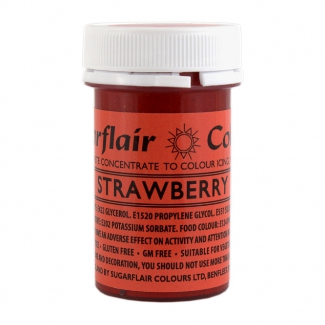 Sugarflair Strawberry Red - Spectral Paste Concentrate Colouring 25g