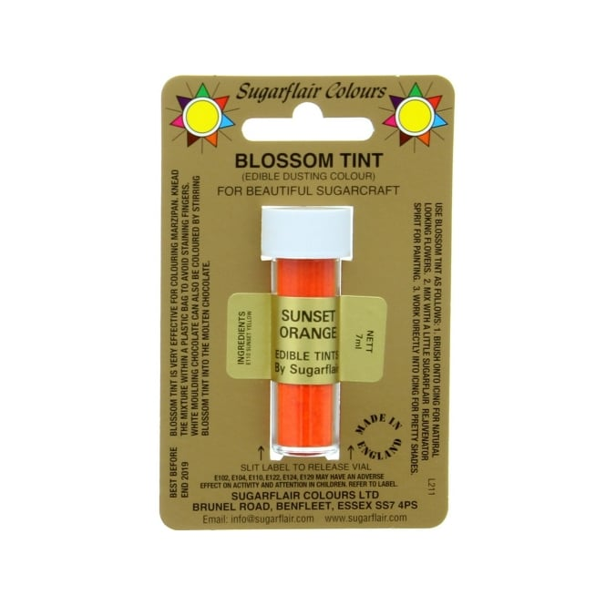 Sugarflair Sunset Orange - Blossom Tint Dusting Colour 7ml