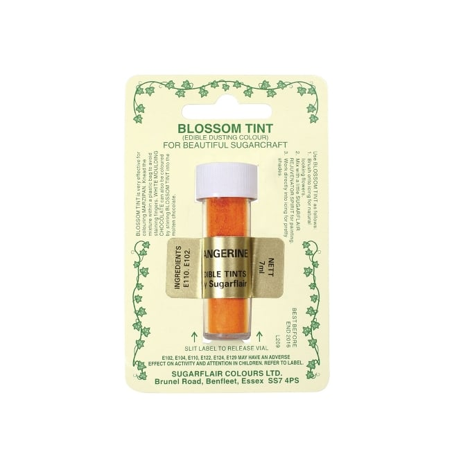 Sugarflair Tangerine - Blossom Tint Dusting Colour 7ml