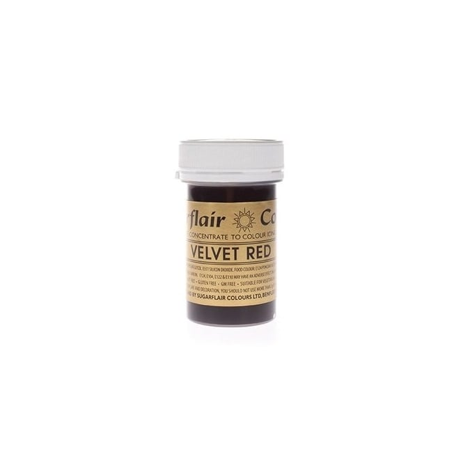 Sugarflair Velvet Red - Spectral Paste Concentrate Colouring 25g