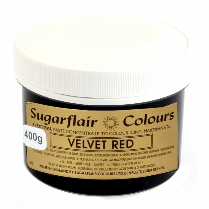 Sugarflair Velvet Red - Spectral Paste Concentrate Colouring 400g