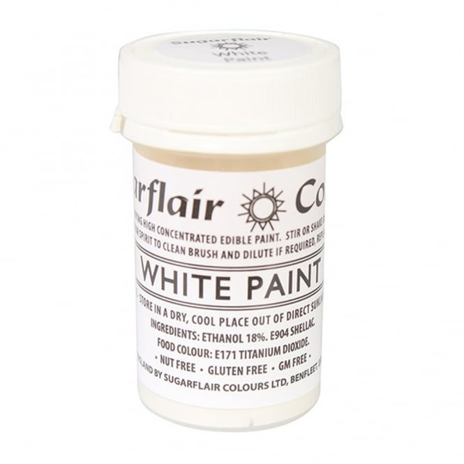 Sugarflair White - Edible Matt Paint 20g