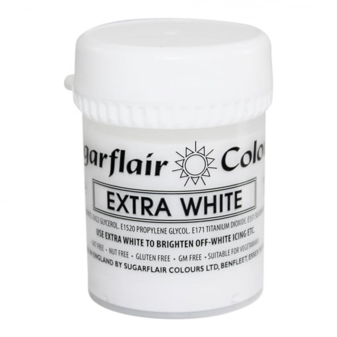 Sugarflair White Extra - Max Concentrated Paste Colouring 42g