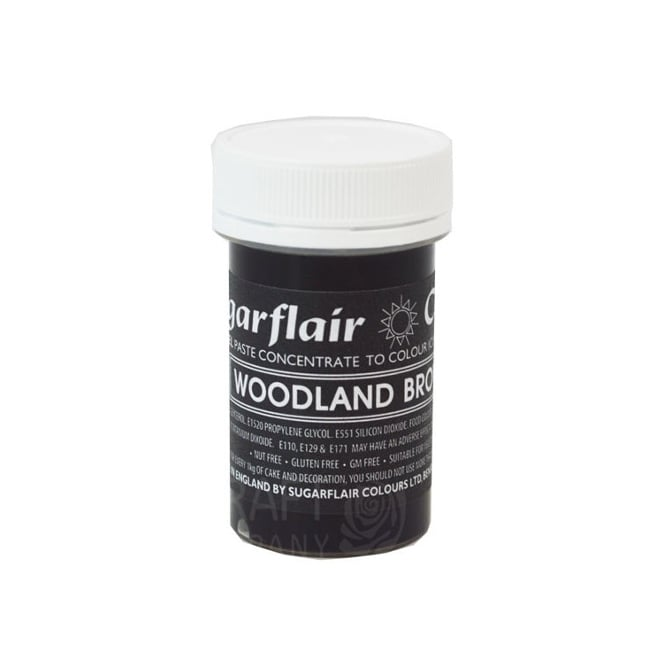 Sugarflair Woodland Brown - Pastel Paste Concentrate Colouring 25g