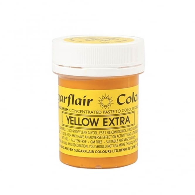 Sugarflair Yellow Extra - Max Concentrated Paste Colouring 42g