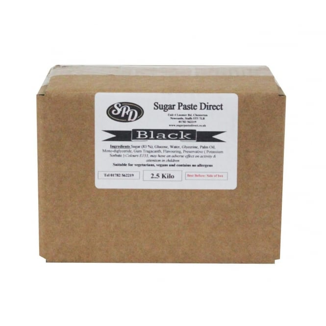 Sugarpaste Direct Black - Ready To Roll Fondant Icing 2.5KG