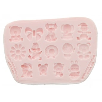 Baby Accessories 2 Mould By Sunflower Sugar Art