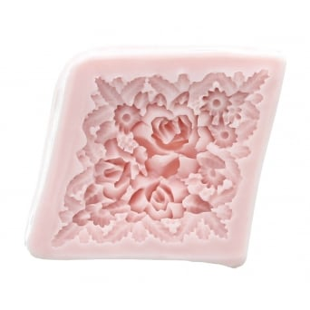 Diamond Roses Mould By Sunflower Sugar Art