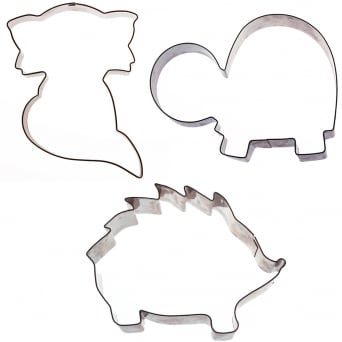 Woodland Animal Cookie Cutter Set Of 3