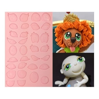 Assorted Cartoon Eyes Silicone Mould - Tal Tsafrir Cakes