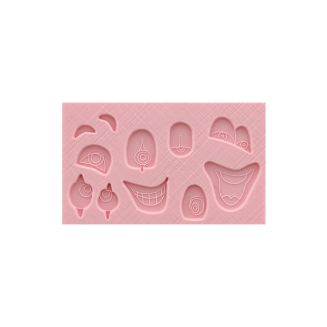 Tal Tsafrir  Clown Eyes - Mouth And Eyebrows Silicone Mould - Tal Tsafrir Cakes