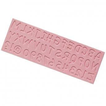 English Capital Letters And Numbers Silicone Mould - Tal Tsafrir Cakes