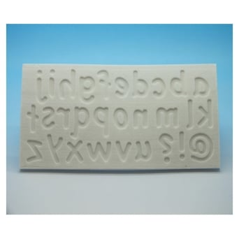 Lower Case Letters Silicone Mould - Tal Tsafrir Cakes
