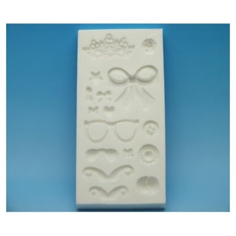 Surprise Tray Silicone Mould Movember - Tal Tsafrir Cakes