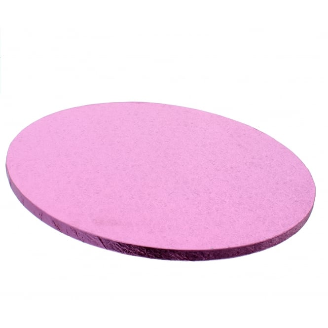 The Cake Decorating Co. 10 Inch Baby Pink Round Drum Cake Board