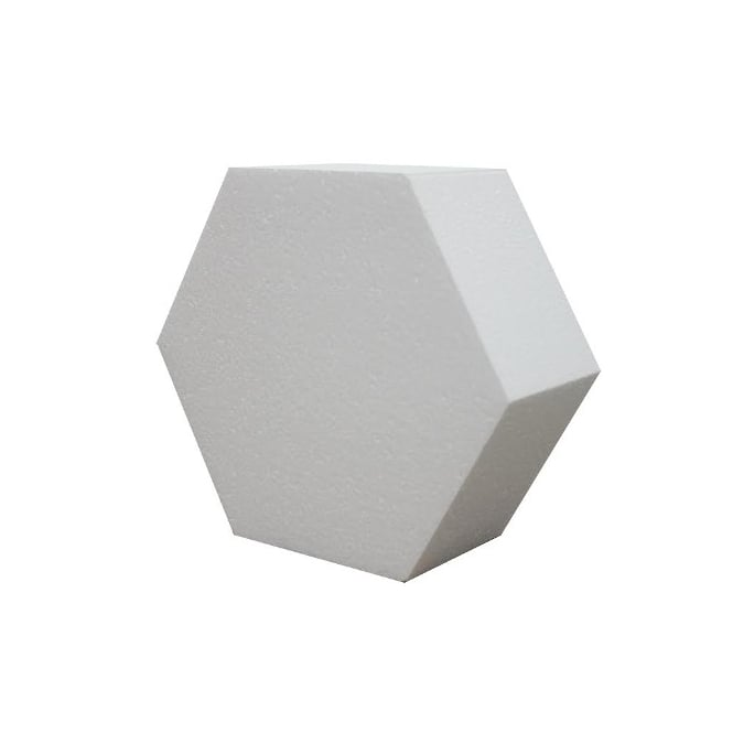 The Cake Decorating Co. 10 Inch Hexagon 4 Inch Deep Professional Cake Dummy