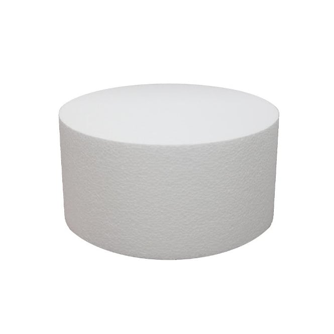 The Cake Decorating Co. 10 Inch Round 6 Inch Deep Professional Straight Edge Cake Dummy