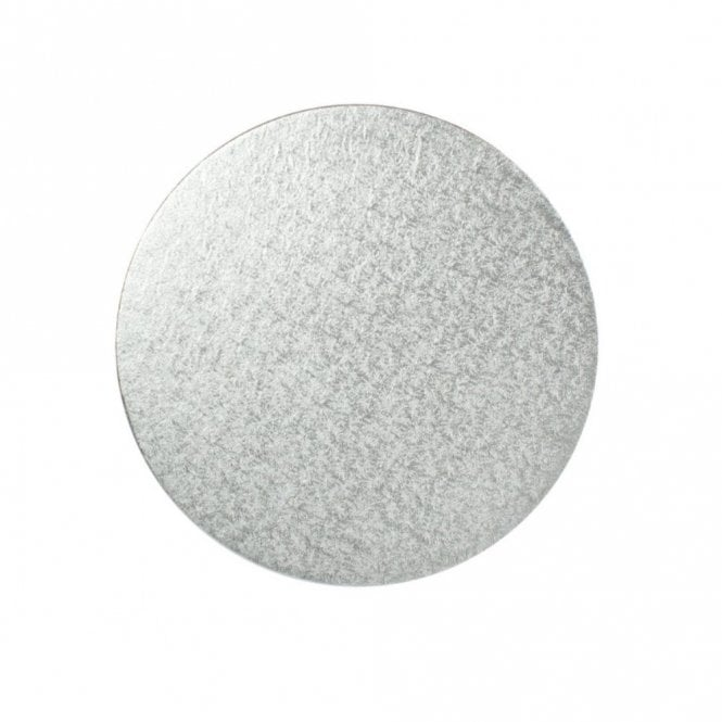The Cake Decorating Co. 10 Inch Round Silver Cut Edge Cake Board