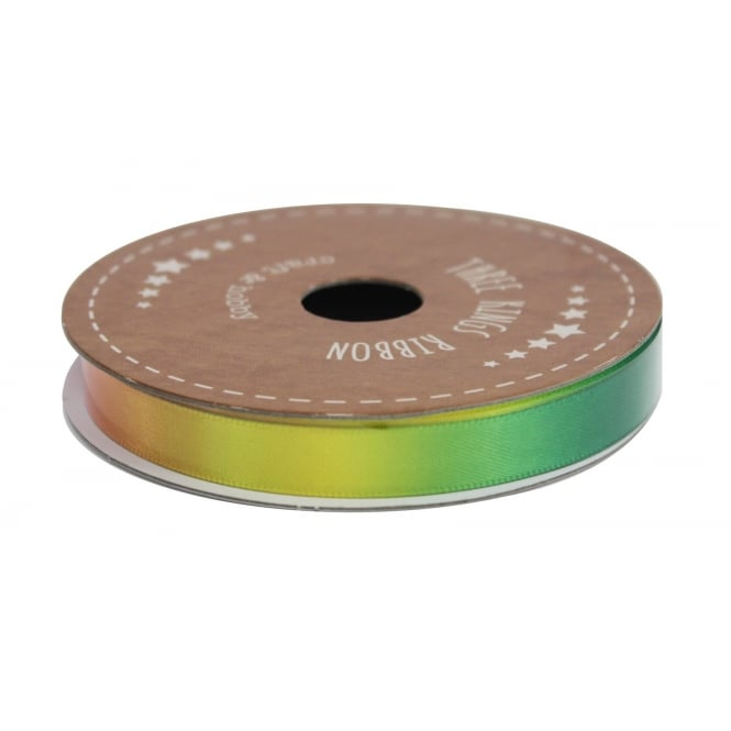 The Cake Decorating Co. 10mm Rainbow Double Faced Satin Ribbon - 3 Metres