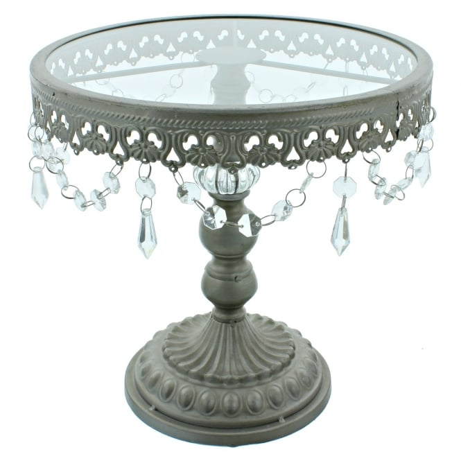 The Cake Decorating Co. 11 Inch Silver Shabby Chic Cake Stand