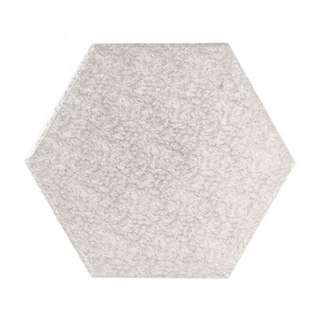 The Cake Decorating Co. 12 Inch Silver Hexagon Cake Drum Board