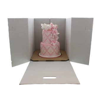 15 Inch Extra Deep Heavy Duty Stackable Corrugated Cake Box