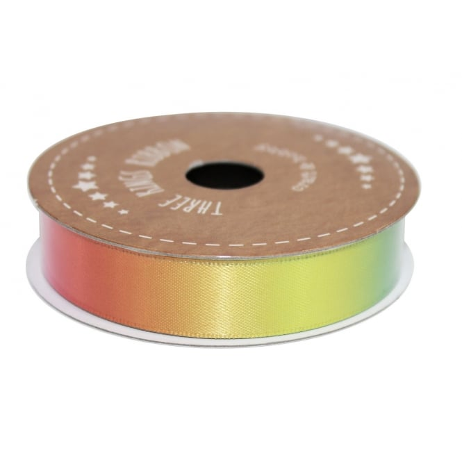The Cake Decorating Co. 15mm Rainbow Double Faced Satin Ribbon - 3 Metres