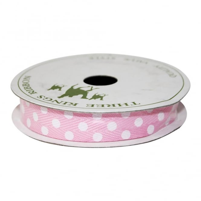 The Cake Decorating Co. 15mm Spotted Twill Ribbon - 4 Metres - Choose Your Colour