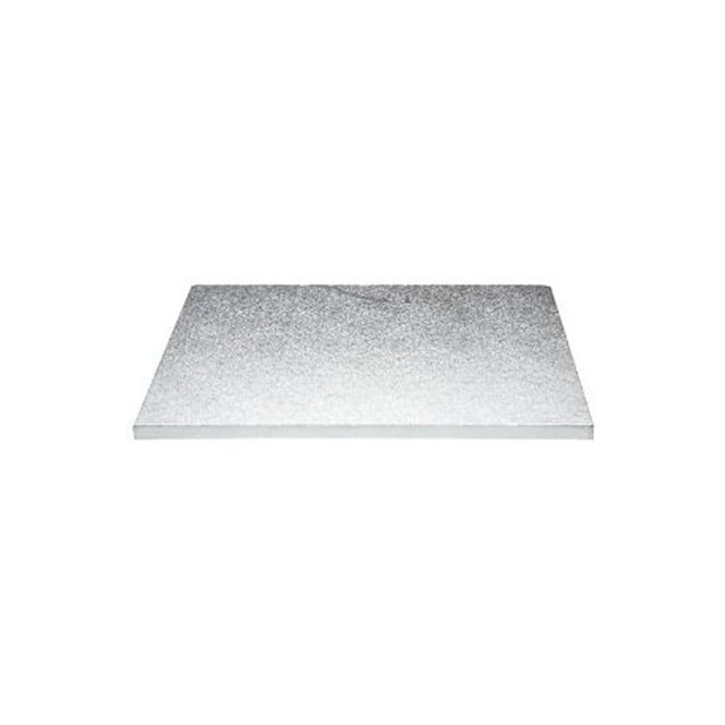 The Cake Decorating Co. 16 x 12 Inch Silver Oblong Drum Cake Board