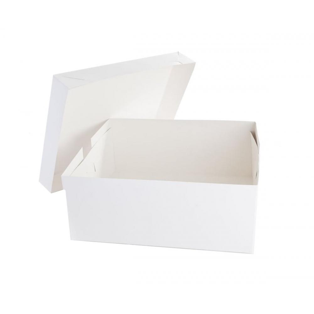 Cuplitt 14 x 18 White Oblong Cake Box